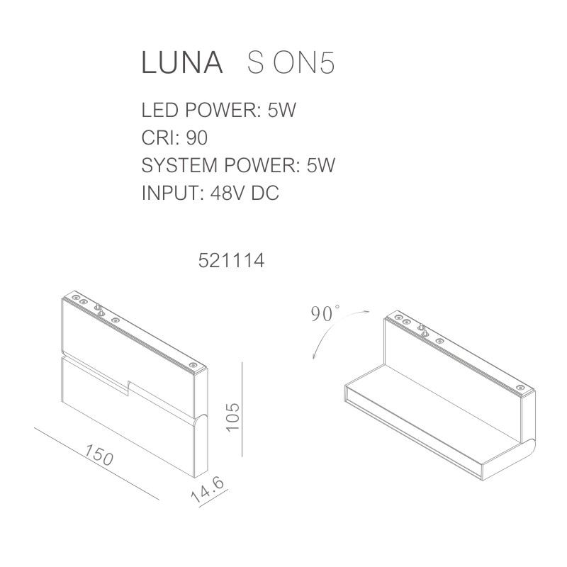 מערכות תאורה מגנטיות LUNA S -