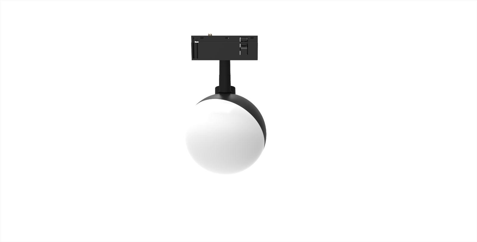 גופי תאורה בקטגוריית: מערכות תאורה קליק 25 ,שם המוצר: ספוט כדור חלבי למערכת קליק 25