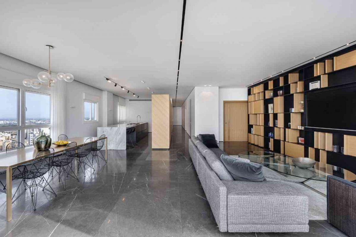Vista – Netanya כל גופי התאורה במרחב הדירה תכנון ועיצוב של קמחי תאורה