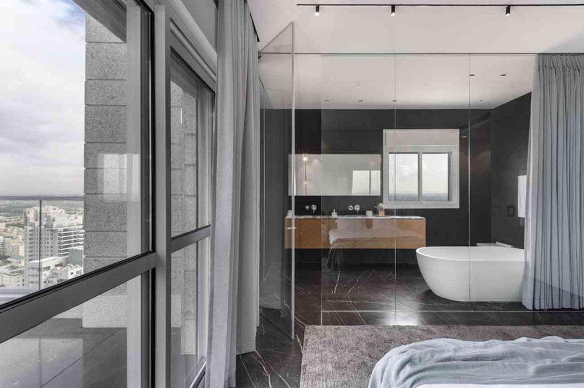 Vista – Netanya תקרת חדר האמבטיה בגופי תאורה על ידי קמחי תאורה