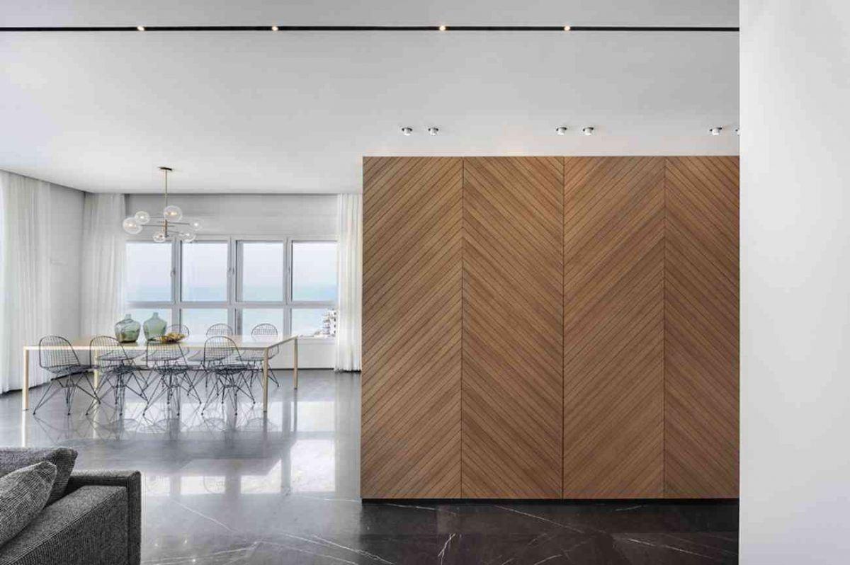 Vista – Netanya תאורה אדריכלית במרחב הסלון ביצוע של קמחי תאורה