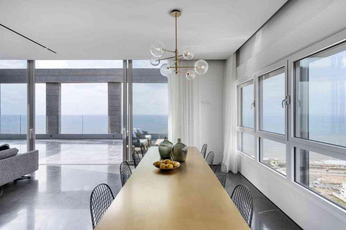 Vista – Netanya גוף תאורה מעל שולחן האוכל עיצוב של קמחי תאורה