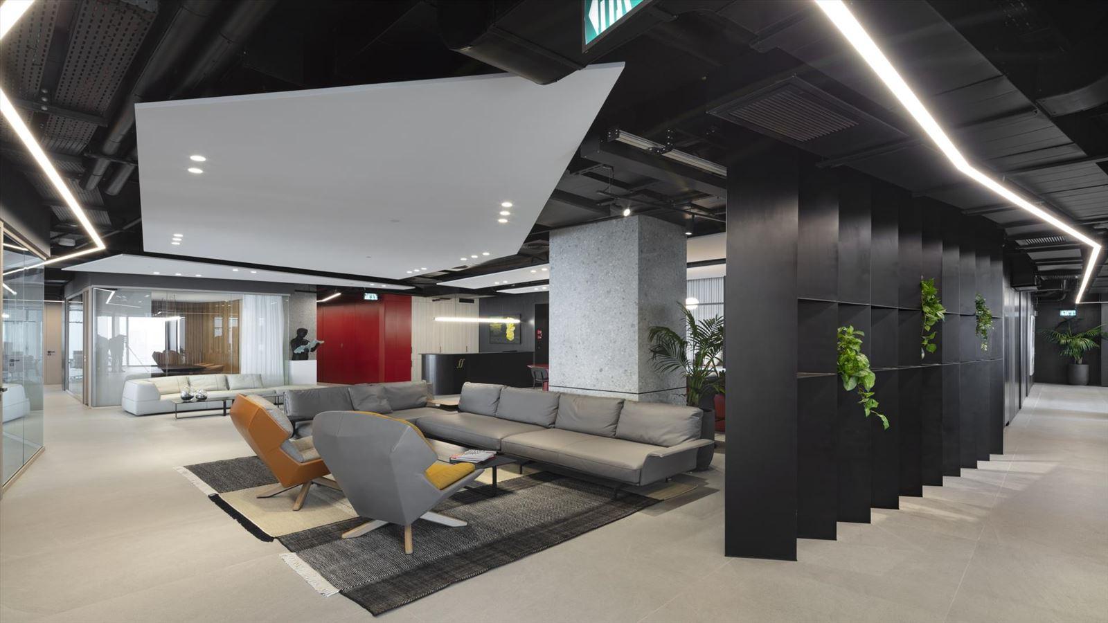Fortissimo Offices – Tel Aviv חלל המשרד בגופי תאורה מיוחדים בתכנון דורי קמחי