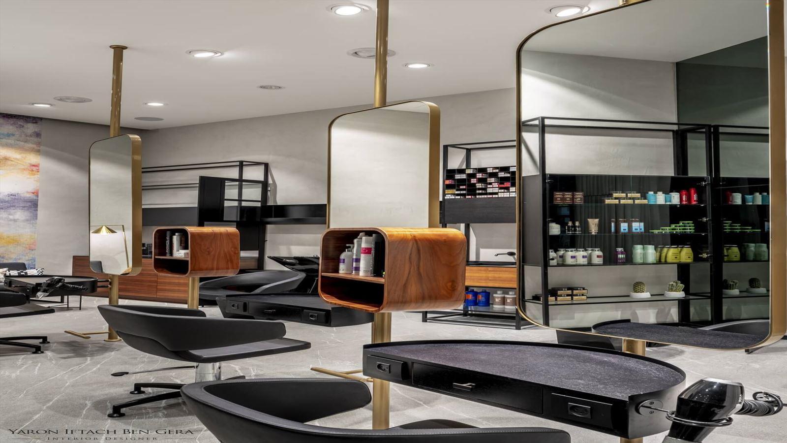 Boutique Hair Dressing Salon עיצוב תאורת המספרת על ידי קמחי תאורה אדריכלית