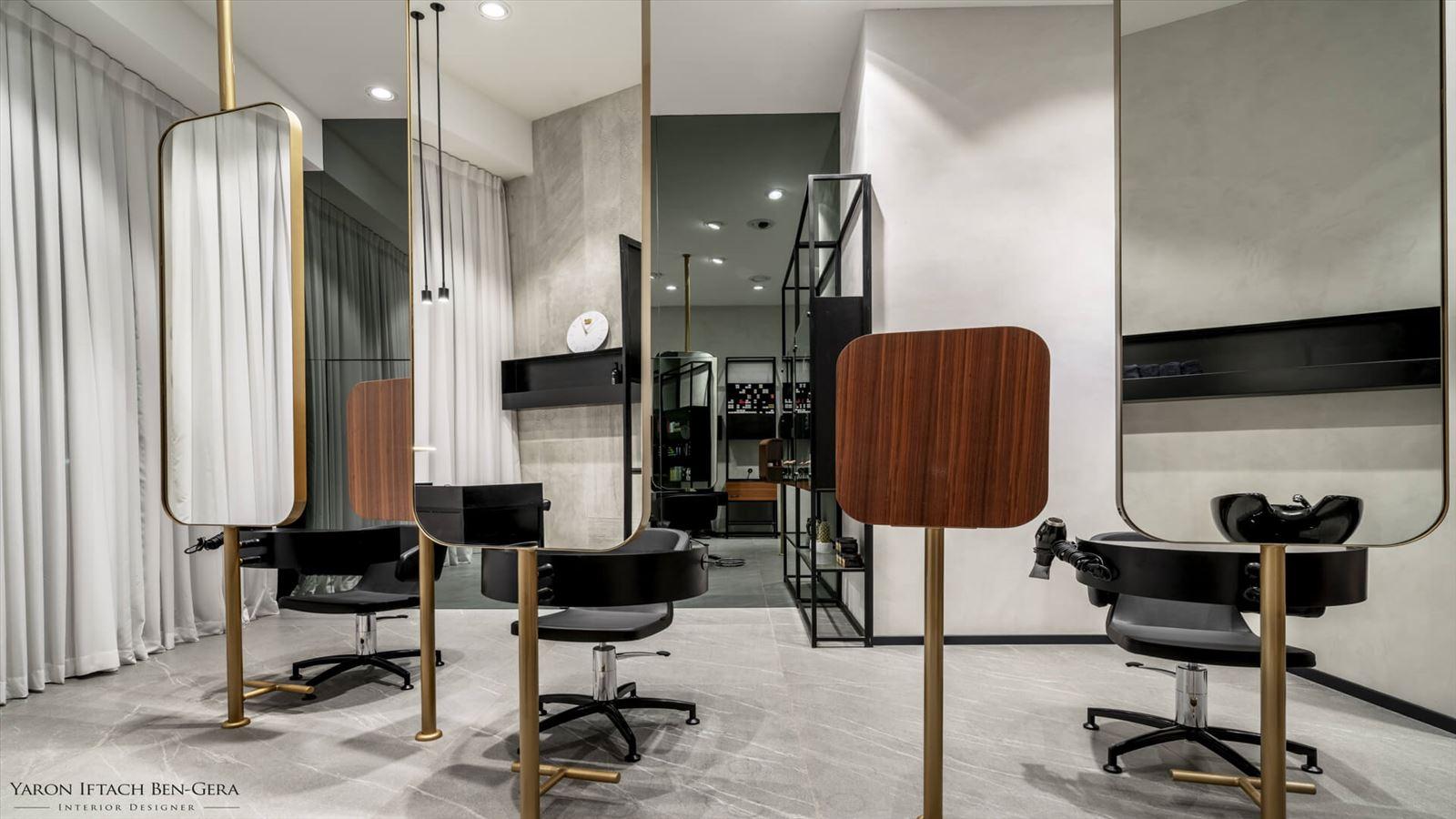 Boutique Hair Dressing Salon תאורת המספרה תוכננה ועוצבה על ידי דורי קמחי