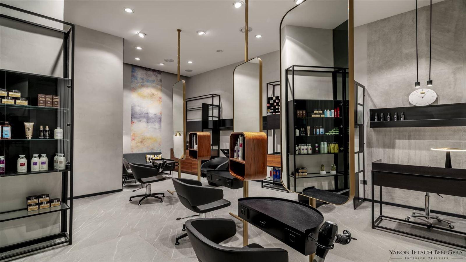 Boutique Hair Dressing Salon עיצוב תאורת המספרה על ידי קמחי דורי