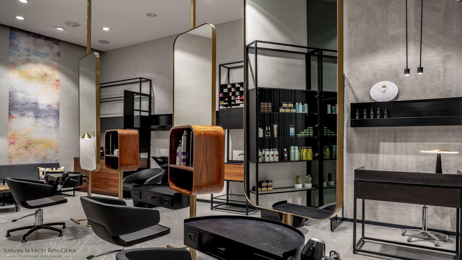 Boutique Hair Dressing Salon תכנון תאורה אדריכלית במספרה על ידי קמחי תאורה