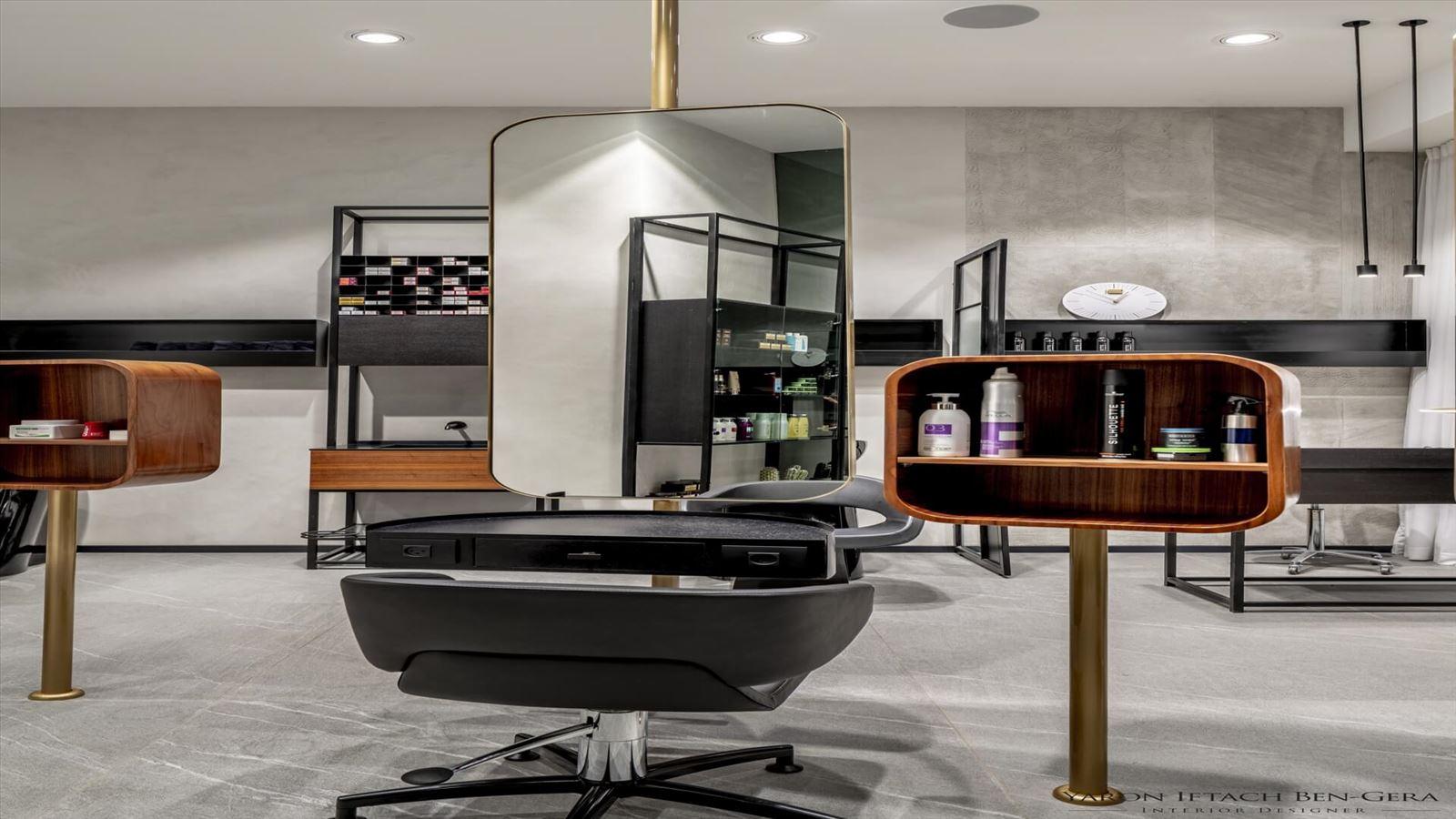 Boutique Hair Dressing Salon פרויקט תאורה במספרה על ידי דורי קמחי