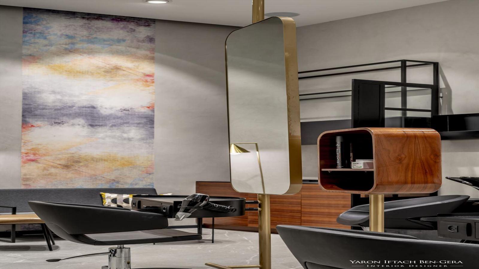 Boutique Hair Dressing Salon עיצוב תאורה אדריכלית במספרה על ידי קמחי תאורה