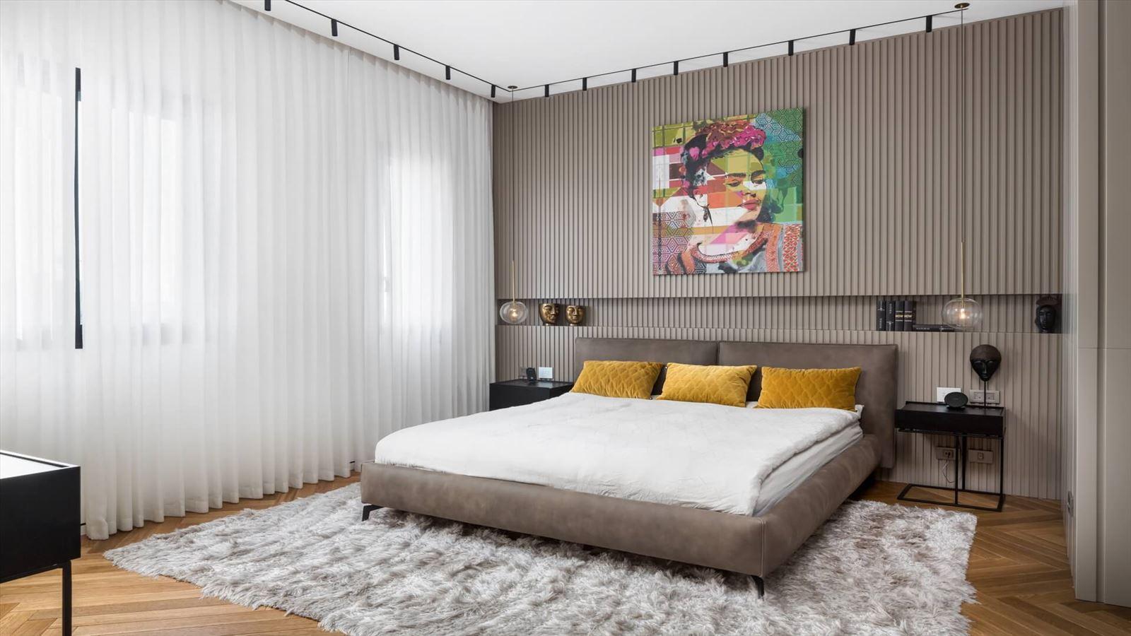 Penthouse Carmelit - עיצוב תאורה בחדר השינה על ידי קמחי דורי