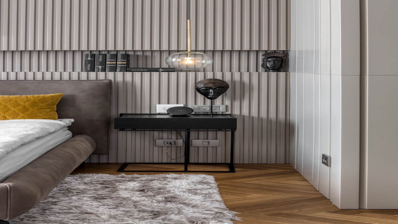 Penthouse Carmelit - תאורה אדריכלית בחדר השינה על ידי קמחי תאורה
