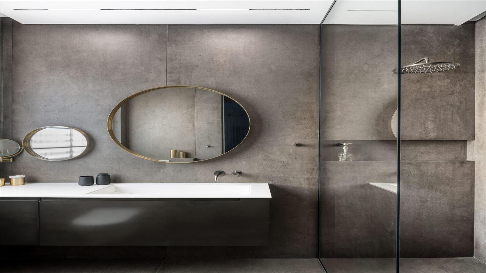 Penthouse Carmelit -  עיצוב תאורת אמבטיה על ידי דורי קמחי
