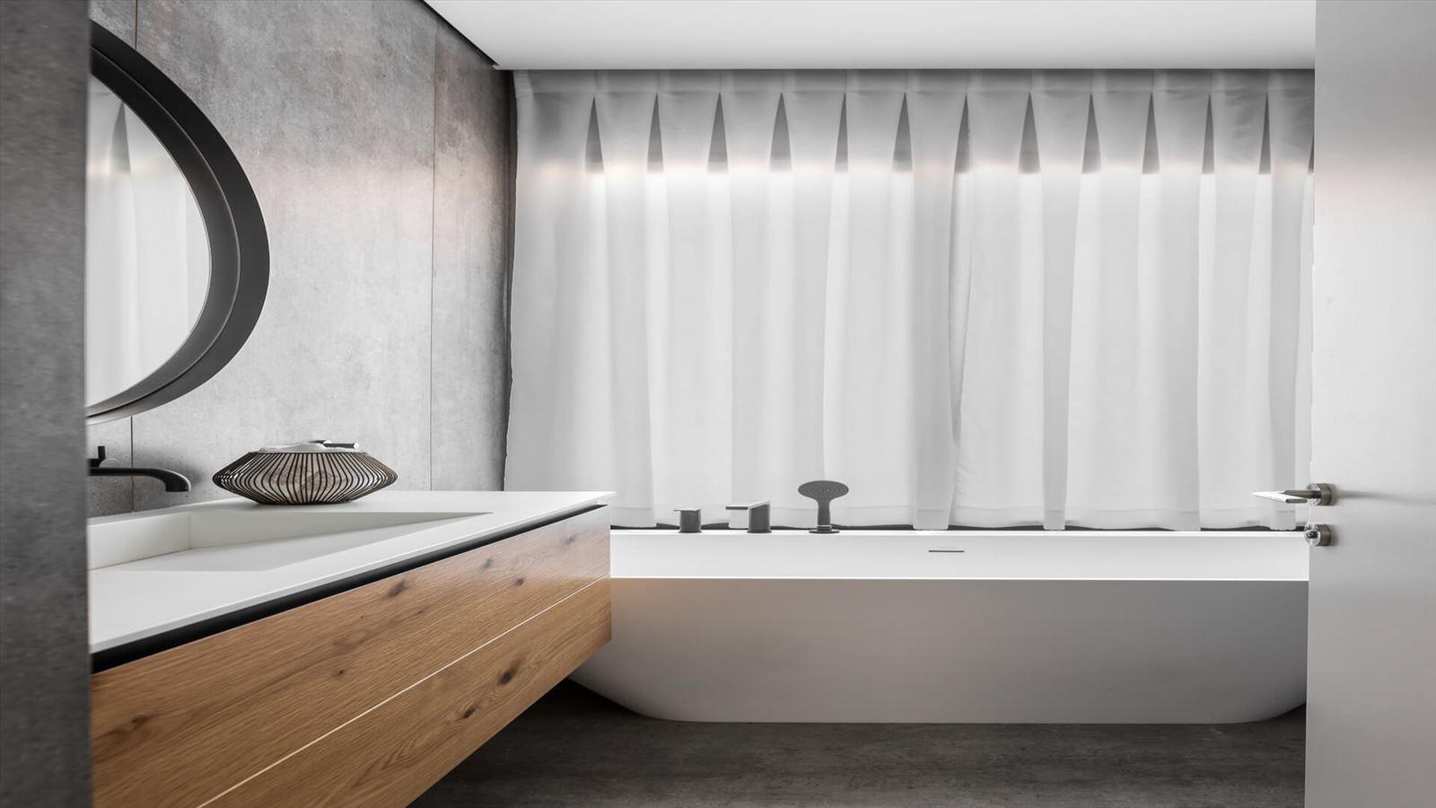 Penthouse Carmelit -  תאורה מעוצבת במקלחת על ידי דורי קמחי