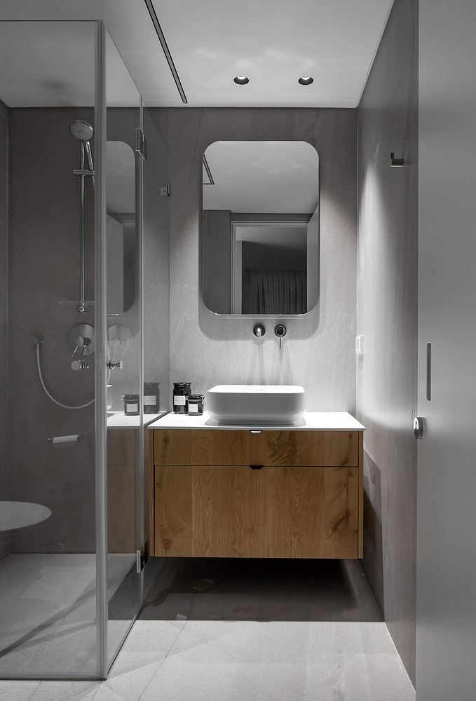 Private house in the center עיצוב תאורת השירותים , דורי קמחי