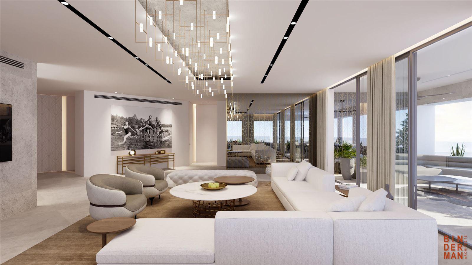פרויקט הדמיה של בית פרטי - תאורת הסלון נעשתה על ידי דורי קמחי