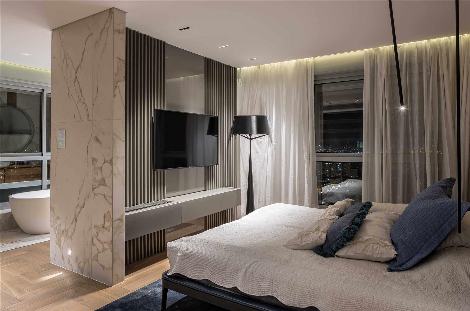 תאורה בחדר השינה - פרויקט תאורה בבית פרטי על ידי דורי קמחי
