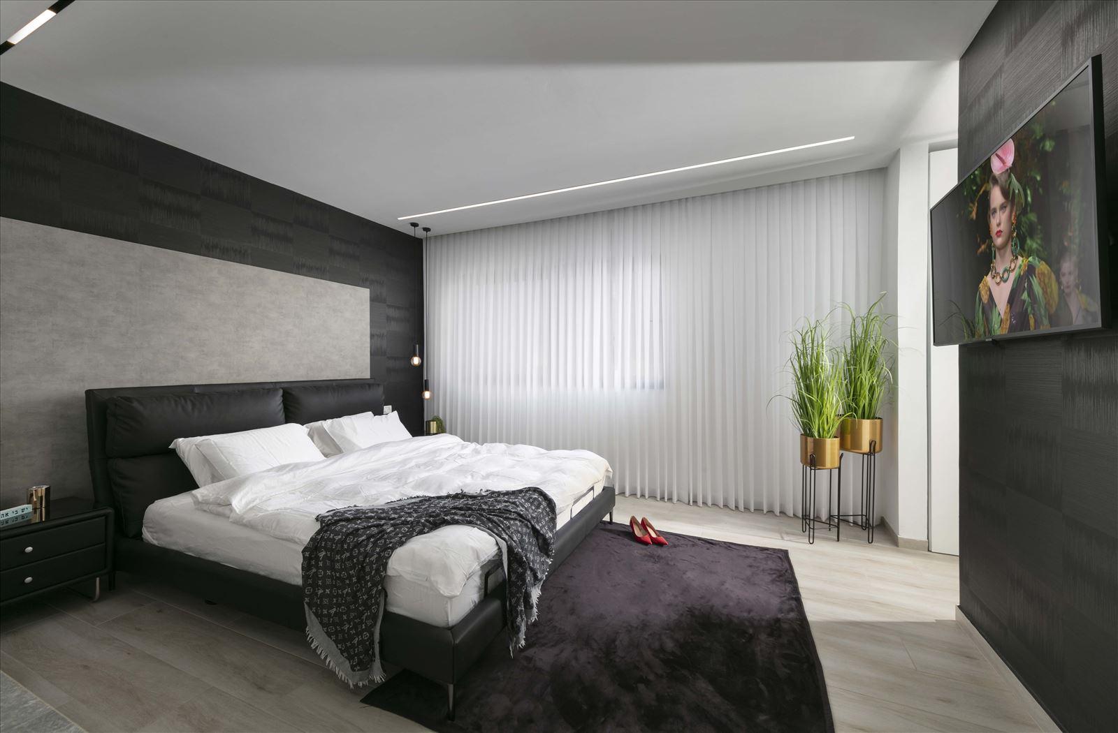 Lighting project private house תאורה חדר השינה נעשתה על ידי דורי קמחי