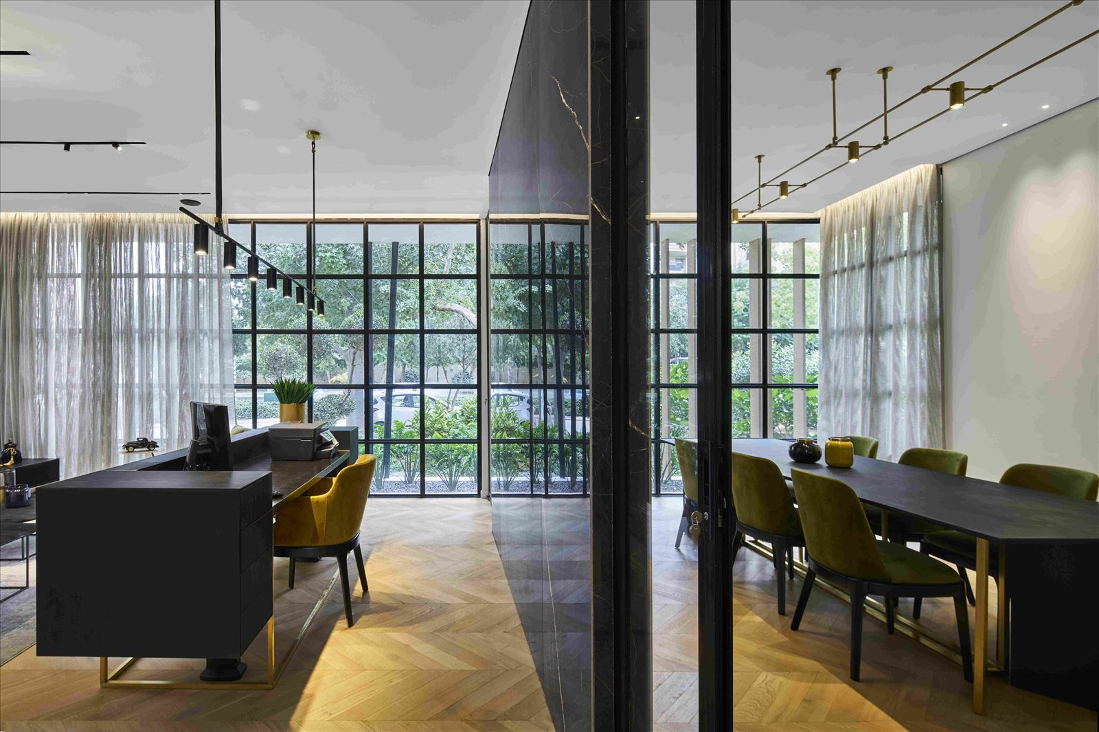 sales office - onone פרויקט תאורה מדהים מבית קמחי תאורה