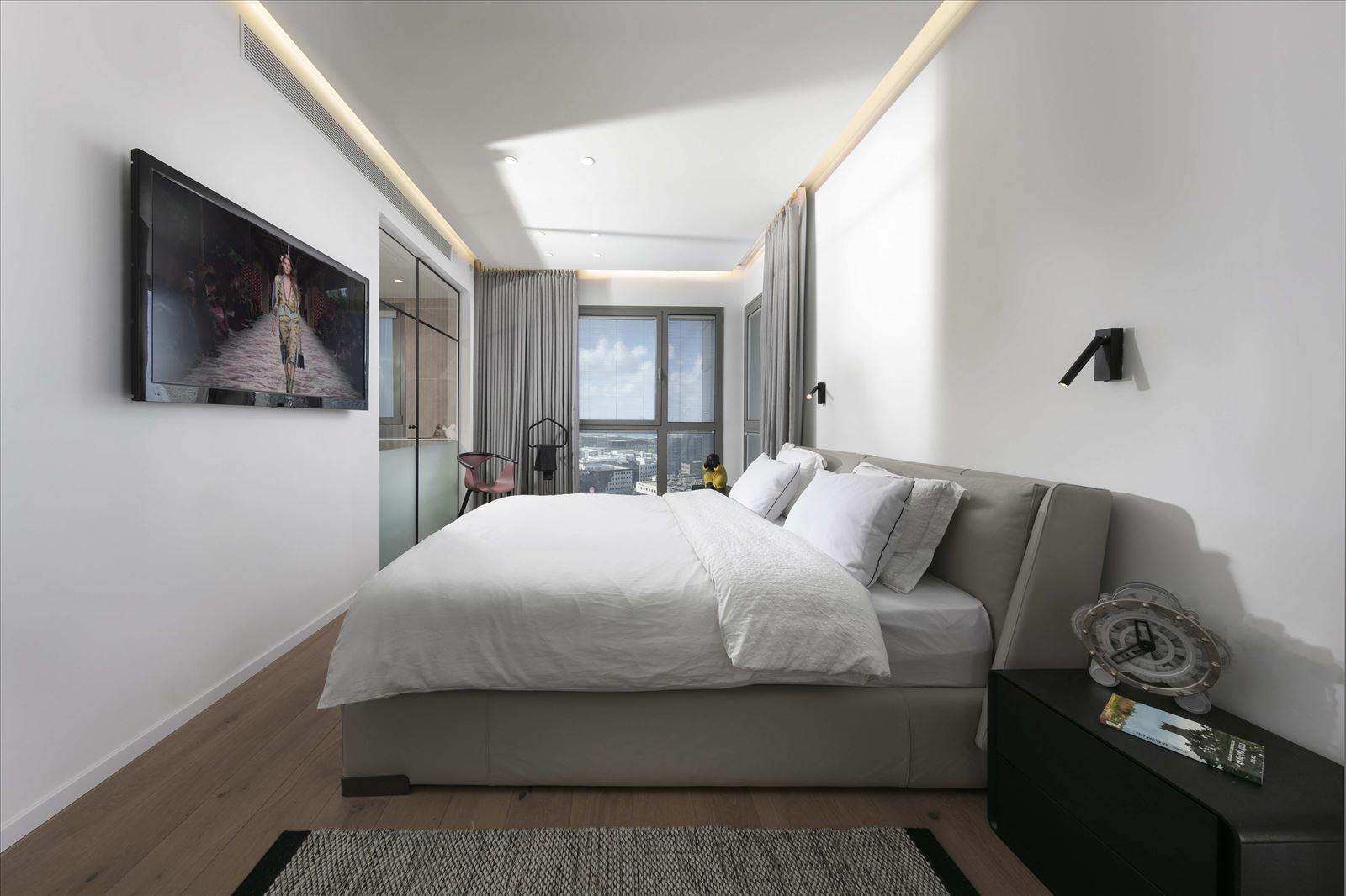 Private home - Herzliya גופי תאורה בחדר שינה מבית קמחי תאורה