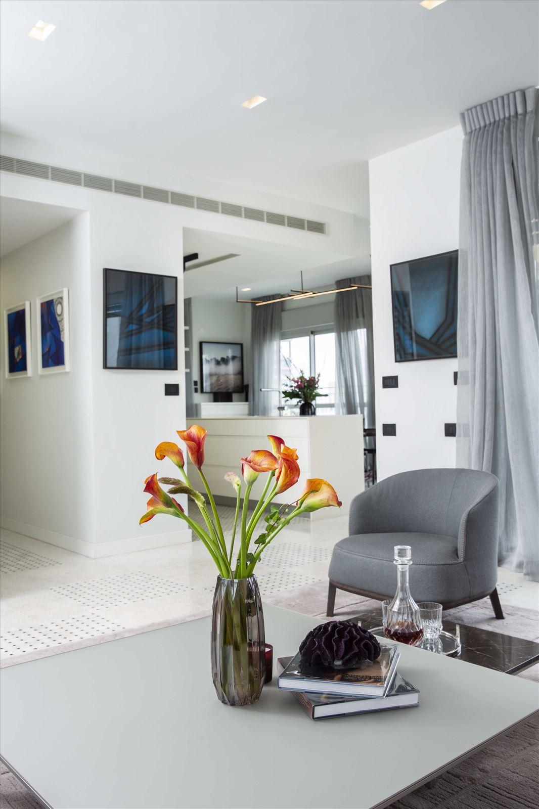 Tel Aviv apartment in Parisian aroma קמחי תאורה - תאורה בחלל הבית