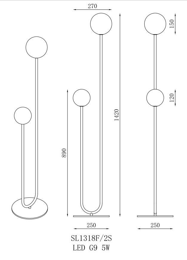 גופי תאורה מקטגוריית: מנורות עמידה  ,שם המוצר: