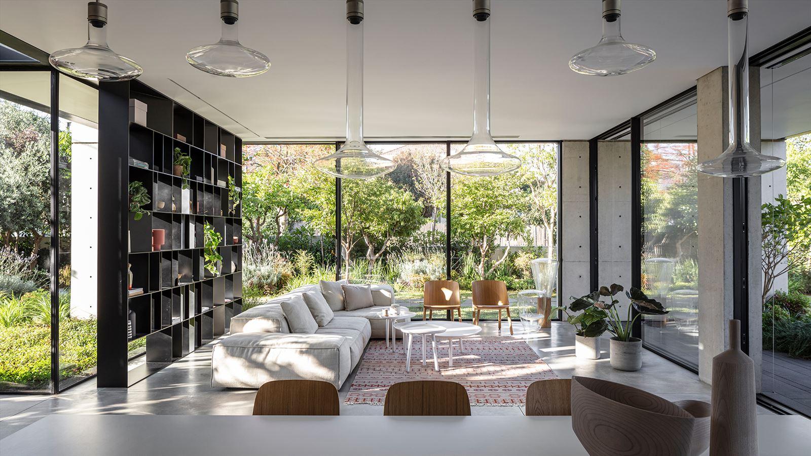 פרוייקט בית פרטי במרכז הארץ - גופי תאורה מבית דורי קמחי