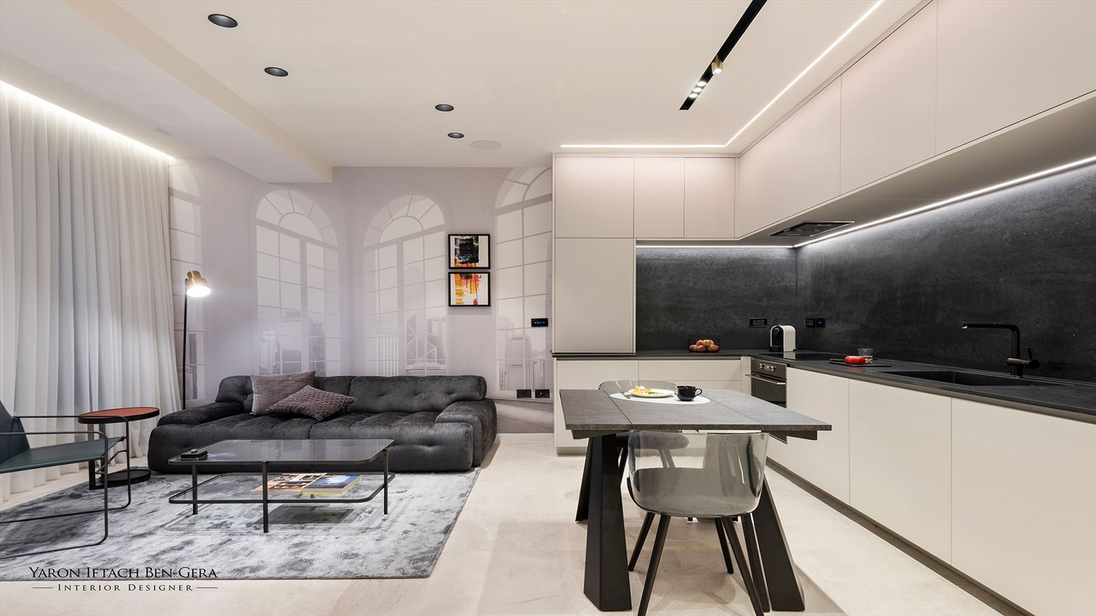 פרויקט תאורה - Luxury Apartment 47 Meters in North Tel Aviv